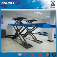With Trolley Auto Car Scissor Lift for 4 Wheel Alignment