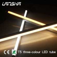 RoHS approval three color changing 1200mm 18W t5 t8 Aluminium plastic lamp tube led lighting