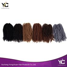 Xuchang factory direct cheap synthetic braiding hair extension wholesale, Jerry Curl crochet braiding synthetic hair