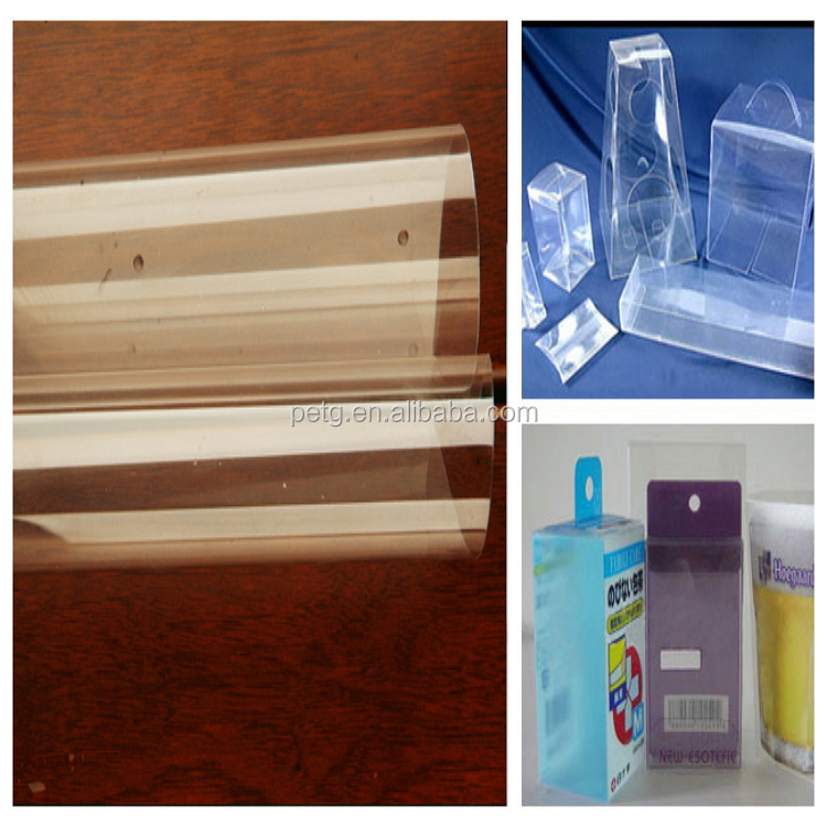 MINYANG rigid clear pet thin plastic sheet for folding box