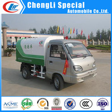 3cbm sealed dump garbage truck 3cbm mini garbage collector truck 1-3cbm garbage collector truck