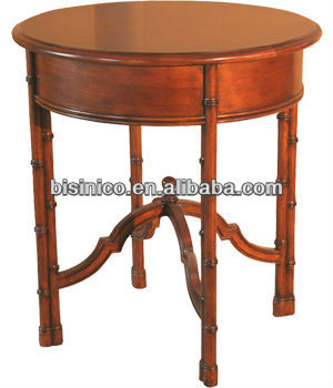American style Bridgemans Home Round End Table,hand carved wood furniture,antique style livingroom furniture(B14098)