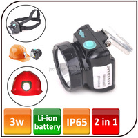 2000mAh Li-ion battery Miner Light Mining Lamp rechargeable cree led helmet headlight for hunting camping fishing