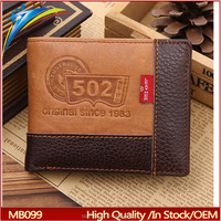 Fashion europe mens leather wallets Vintage Branded men's short card purses hot selling items