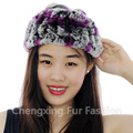 CX-E-37A Real Rex Rabbit Fur Neck Warmer Stretch Fur Elastic Headband