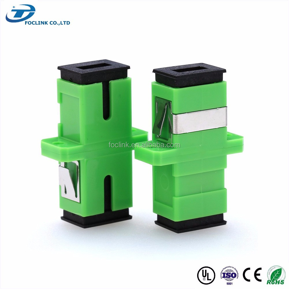 SC PC/APC SM Simplex Optical Fiber Adapter, ceramic sleeve made in China, widely used for fiber optic networks