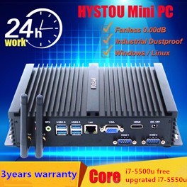 small size computer all in one desktop i7 Intel Core i7-6600U i7 micro pc Fanless slim size low power 12V gaming computers i7
