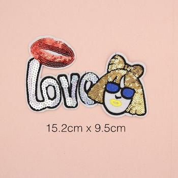 Decorative Reversible Sequin Love Letter Patch For Clothing