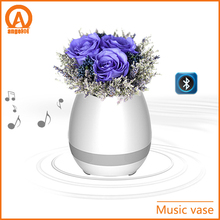 Solar hard plastic flower pot HB led music dancing furniture big flower vase illuminated led flower vase pot