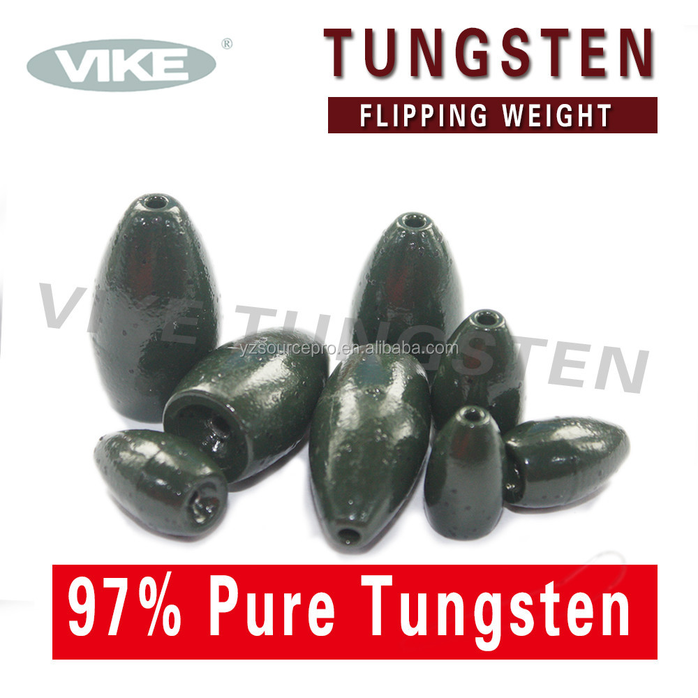 716TFW-WS fishing tungsten flipping weight 7/16 oz. (12.4g) watermelon seed color 3pk
