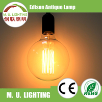 Smoke color 40W G125 vintage Edison bulb for Caffe house