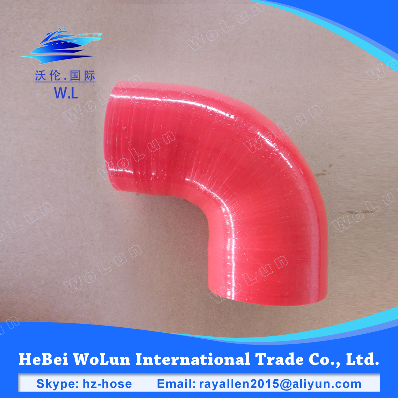 Rubber hose 100mm factory price silicone hose 90 degree rubber radiator hose