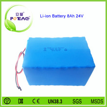 Since 2007 6S4P 24V 8000mah lithium ion battery pack