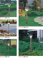 Factory price directly ip65 level gold color elegant design led lawn lamp outdoor lawn light
