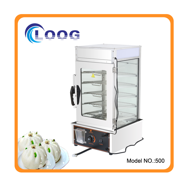 Factory Wholesale Commercial Electric Steamed Bun Steamer Glass Display Bun Steamer