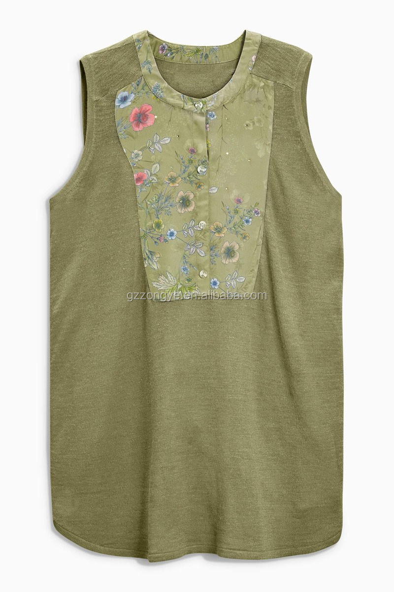 China style flower printed ladies tops latest blouse design 2016