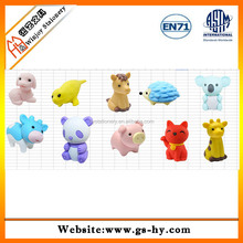HY-F001 fashion animal shape TPR novelty erasers