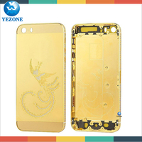 Top Class wholesale price for iphone 5s 24kt Gold Housing, For Iphone 5s 24k Gold Plating Back Cover