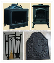 Luxurious promotional antique style cast iron indoor wood burning stoves insert