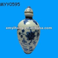 china blue and white snuff bottle for collection