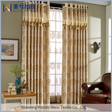 Luxury Gold Drapes Line Floral Printed Modern Curtain For Living Room