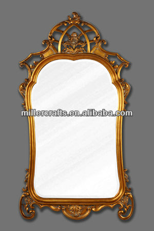 Antique resin framed wall mirror
