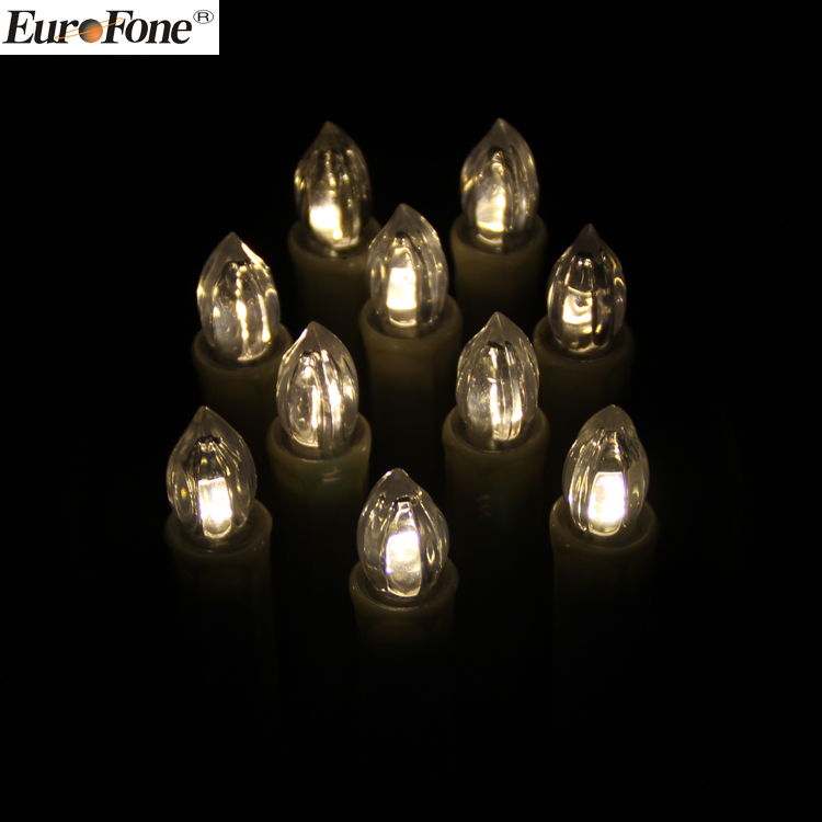 10 led tealight candles Christmas tree decoration led candles with clips led clip candles