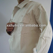 popular 88/12cotton/nylon 240gsm fire repellent jacket for workers pass ISO9001:2008