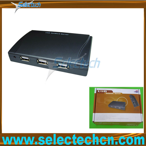 Protable 1000M hub 2.0 print 4 port wifi usb lan server SE-SK-304U