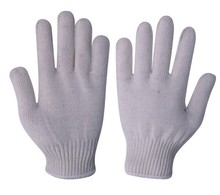 knitted cheap white cotton gloves light