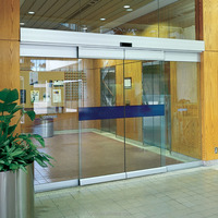 factory price high quality fashionable aluminum commercial automatic sliding glass doors
