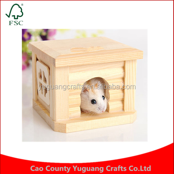 Custom pine cottage hamster manufacturing small pet nest flat top villa wooden house
