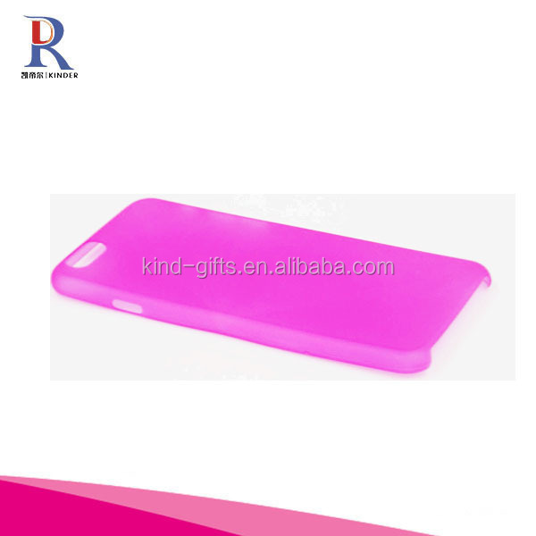 New 0.3mm Super Ultra Thin Slim Matte Frosted Transparent Clear Soft Pp Cover Case for iphone 6