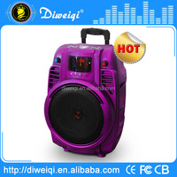 bluetooth mp3 speaker with power tweeter player,trolley ,tf,sd card