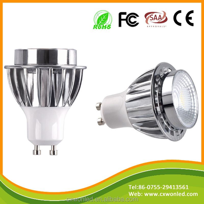 CE ROHS high quality 7W 600lm <strong>Aluminum</strong> alloy GU10 Pure white cob led spot light