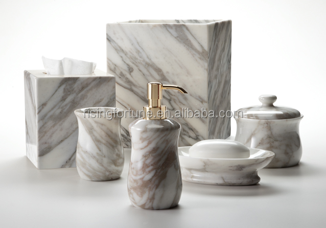 Natural stone accessories bath sets