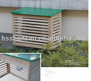 wooden air conditioner cover