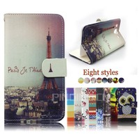 Hot Sale color printing stand leather flip cover holster case for Huawei Honor Bee Y541 Y5C