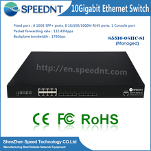 Managed Full duplex Ethernet Network 178gbps 10g switch network 10 gb internet switch rj45 8-ports