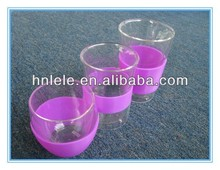 HAINING LELE Eco-friendly wholesale silicone rubber cup sleeve, hot selling heat-resistant and anti-slip silicone cup holder