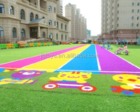 Colorful Artificial Grass Indoor and Outdoor Use For Garden and Landscaping