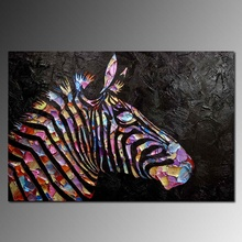 100% hand-painted zebra knife painting, abstract art wall decoration pictures Hot Living Art