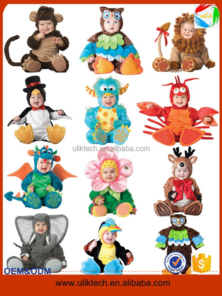 New design lovely party animal costume for baby wear wholesale kids dinosaur halloween costume (ulik)