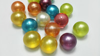 coloful bubble bath pearls / beads