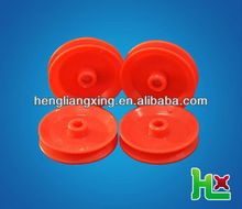 Red plastic pulley wheel for toys/DIY car/teaching use