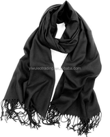 Fashion Wear Luxorious Solid Colors Pashmina Shawl Wrap Stole Scarfs