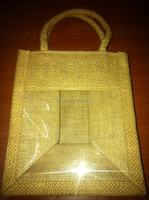 promotion jute wine bottle tote bag wholesale