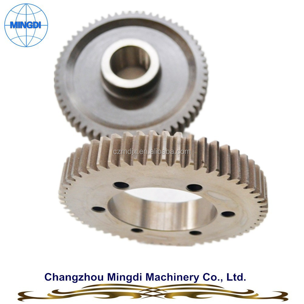 MINGDI Customized Hardened Spur Gear Spiral Bevel Gear / Spur Gear