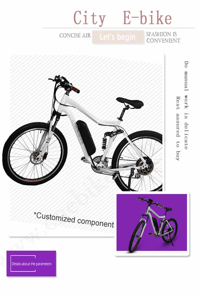 27.5'' cheap 350w city ebike/electric bicycle/mountan ebike with BMS 18650 lithium-ion battery