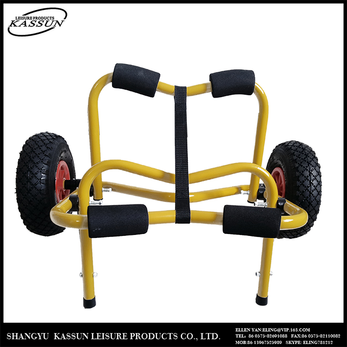 Custom design professional made folding promotional kayak cart,boat trolley